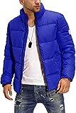 JACK & JONES - Chaqueta de Invierno con Cuello Alto Acolchado Azul Navegar por Internet XXL