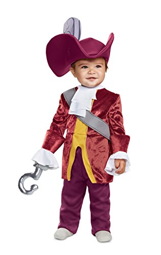 Disguise Baby Boys Captain Hook Classic Infant Costume, red, (6-12 mths)