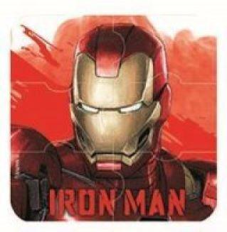 6 Pc Marvel Puzzel Gummetjes| Ironman Hulk Captain America| Strips Superhelden| Kids School Stationery Party Bag Gift Filler (Ironman)