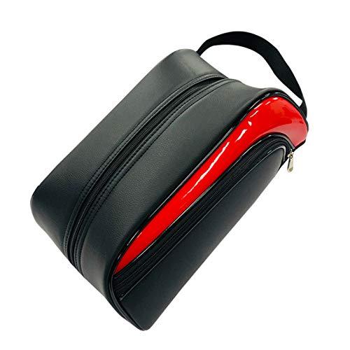 NBGF Bolsa portátil para botas de fútbol, bolsa de zapatos de golf, bolsa de accesorios para hombres, mujeres, niños y niñas (dentro de 12 tamaños de zapato) (color: rojo)