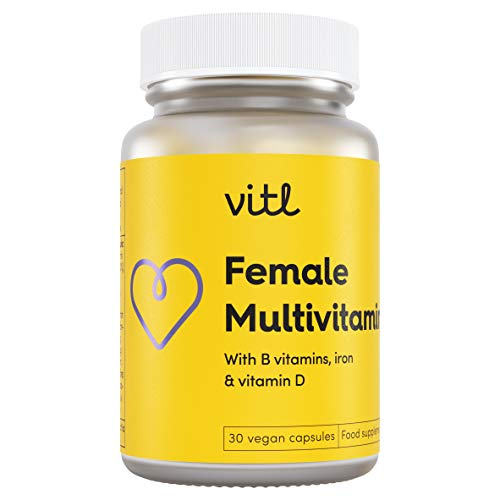 VITL Female Multivitamin   an Everyday Blend of Vitamins and Minerals Designed to Support Women's General Health and Wellbeing   30 Vegan Capsules