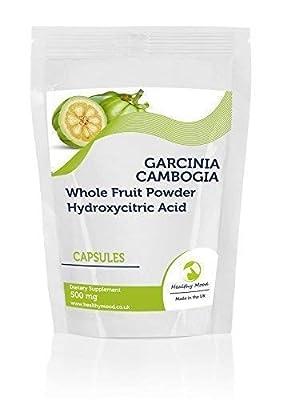 Garcinia Cambogia Whole Fruit Powder 500mg7 Sample PackCapsules Health Food Supplements Nutrition Hydroxycitric Acid HCA Malabar Tamarind HEALTHY MOOD