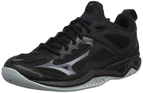 Mizuno Ghost Shadow, Zapatillas Deportivas para Interior Unisex Adulto, Negro (Black/Steelgray/High/Rise 97), 41 EU