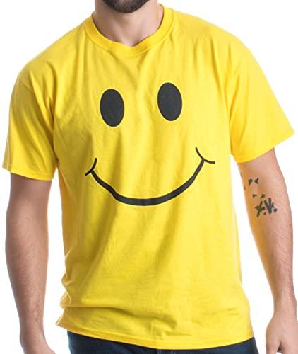 SMILEY FACE (SMILE) TEE! Adult Unisex T-shirt / Positive, Optimist, Sunny, Happy Shirt, yellow, Large
