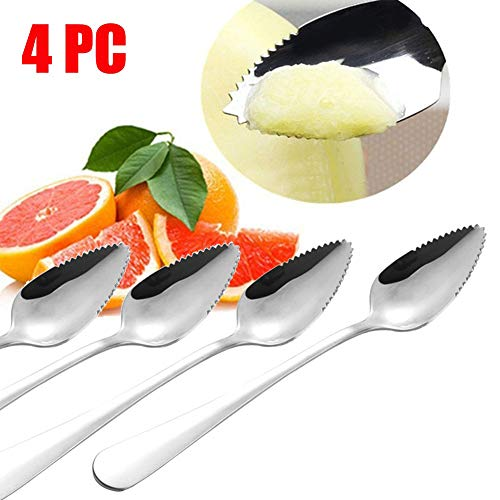 Kenyaw Grapefruitbesteck Set, 4-Teilig, Grapefruitlöffel, Spülmaschinengeeignet, Edelstahl Poliert
