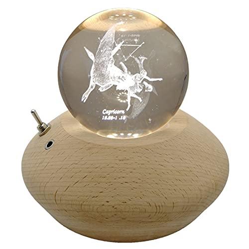 BLAIKOYI Caja de música K9 bola de cristal Capricornio - 360° de...