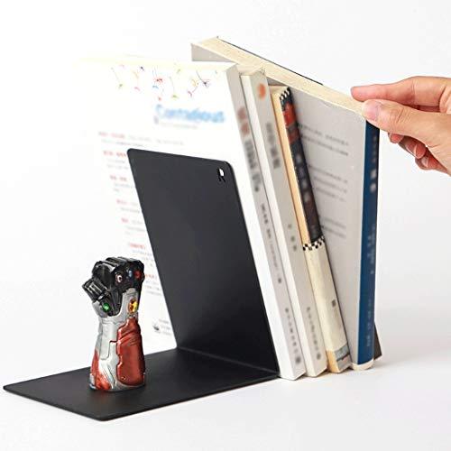 Boekensteunen, creatief geschenk van zware metalen voor boeken, boeken, decoratie voor studenten, boekensteun met blikopener voor boeken, studio, zwart