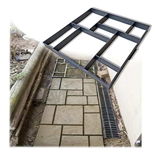 JIANFEI Molde De Pavimento Walk Maker, Cuadrado Bricolaje Escalón Pavimentadora Formulario por Exterior Césped Patio Yarda Jardín, Reutilizable Fácil Funcionar