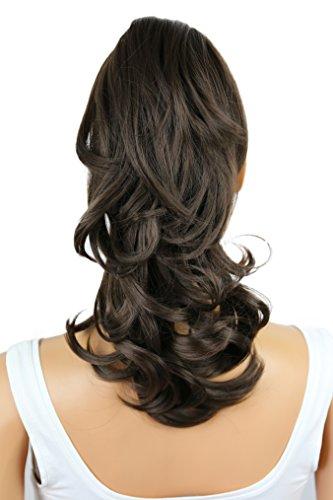 PRETTYSHOP 30cm Postiche Natte Queue De Cheval Extensions De Cheveux Volumineux Ondulé Brune Brune H86