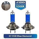 SET 2x BOMBILLAS HALOGENAS HOMOLOGADAS ITV XENCN H7 55W BLUE DIAMOND LIGHT 5300K +20% PX26d EFECTO XENON Super Bright Diamond Car Light Bulbs Halogen Headlight Xenon Lamps
