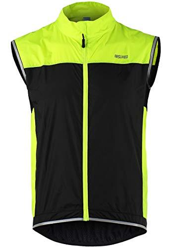Lakaka-EU Windweste Fahrrad Leichte Ärmellose Ultradünne Mantel Jacke Laufen Wasserdicht Winddicht Atmungsaktiv Radfahren MTB Weste