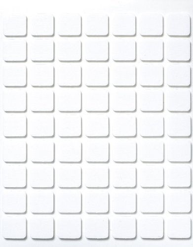 Rayher Hobby 3387300 3D-Klebeplättchen, 11 x 12 x 2 mm, Platte à 63 Klebepads, quadratisch, beidseitig klebend