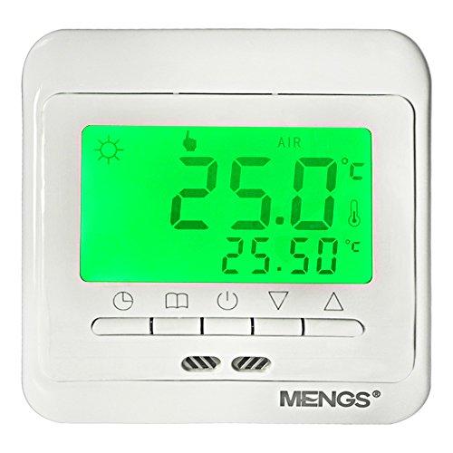 DASKOO C11.H3 7 días programables Termostato de calefacción con LCD digital PC material para la oficina de la escuela en casa área de negocios