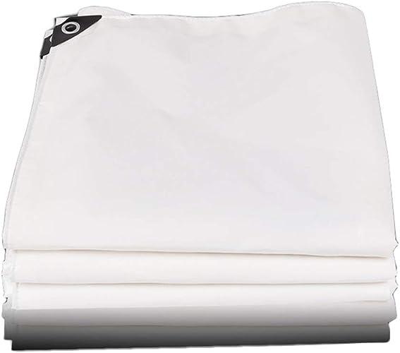 Yunyisujiao Couverture de Camion en Tissu Enduit de PVC de baches épaisses imperméable en Plastique imperméable à la Pluie de bache, Blanc, 500g   m2 (Couleur   3×4M)