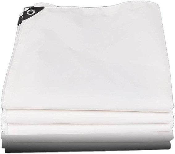 LYN Couverture de Camion en Tissu Enduit de PVC de baches épaisses imperméable en Plastique imperméable à la Pluie de bache, Blanc, 500g   m2