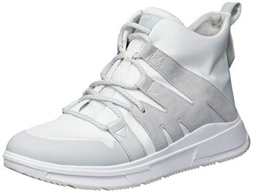 FitFlop Women's Sneakers Walking Shoe, Urban White, 11