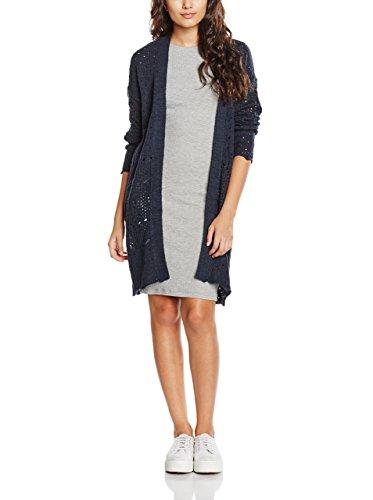 VILA CLOTHES VIKALIAS L/S KNIT CARDIGAN, chaqueta punto Mujer, Azul (Total Eclipse), 38 (Talla del fabricante: Medium)