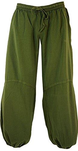 Guru-Shop Yogahose, Goa Hose, Herren, Grün, Baumwolle, Size:S/M (48), Hosen Alternative Bekleidung
