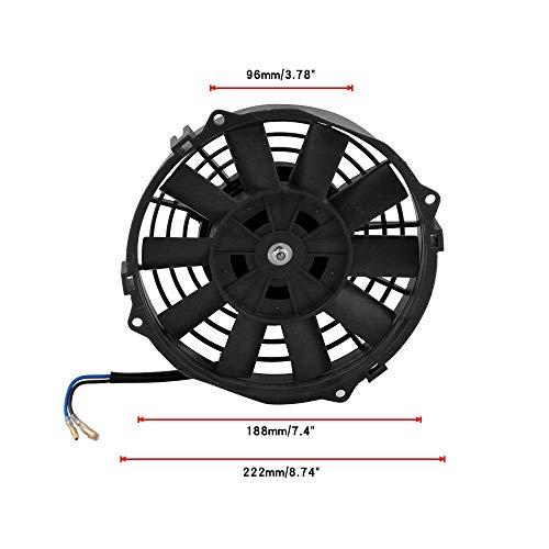 YUXINXIN Auto universele accessoires hoog vermogen 7 inch auto watertank elektronische ventilator auto koelventilator Zwart