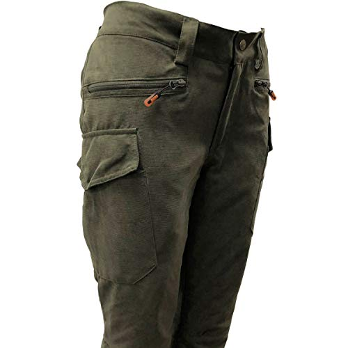 Game Ladies Elise Waterproof Trousers Multipocket Hunters Green Womens Pants