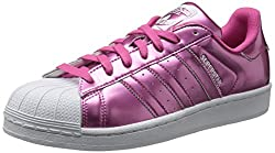 Adidas Woman's Superstar  Pink, Pink Stripe Color - Front View