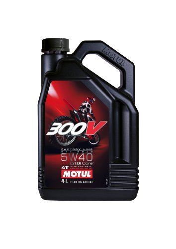 Motul 104135 300V 4T Factory Line Off Road, 5 W-40, 4 L