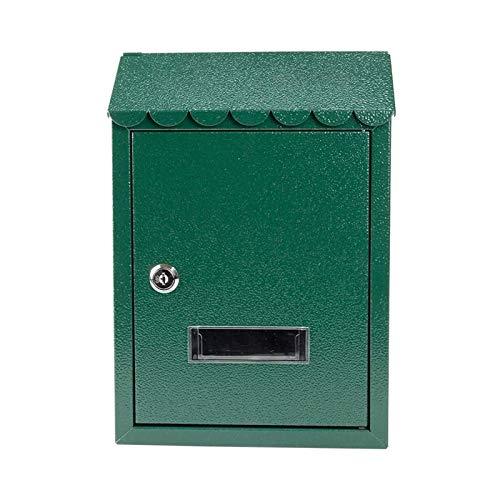 ZZYE Wandmontage Briefkasten für vordere Veranda-Tür/Heckeingang, verzinktes Metallabläufige wetterfeste Postfach mit Anzeigen von Fenstern Briefkasten
