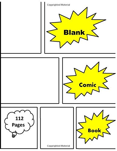 Blank Comic Book:   Kids and Adults   White Paper   with variety of templates  New Blank Comic Book   2-9 panel layouts   draw your own Comics
