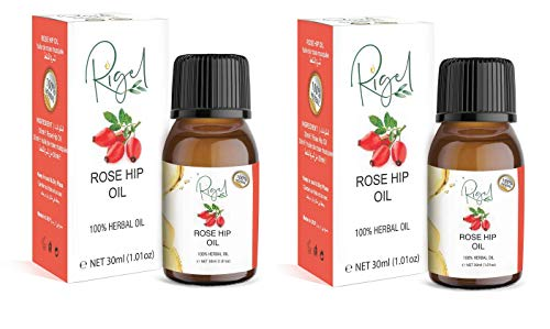 Rosehip Oil for Face 30ml, 100% Pure | Natural Cold Pressed 100% herbal Pack of X2 RIGEL BRAND
