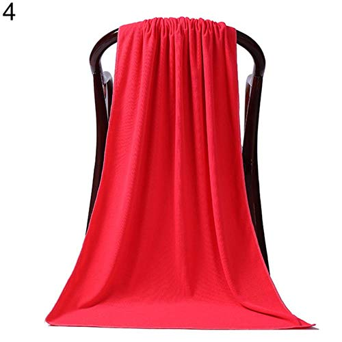 LASISZ 80 x 180cm Large Absorbent Microfiber Drying Beach Swim Sport Bath Towel Sheet Home Textile Large Towel Sports Accessories,Red 671555