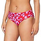 Pour Moi? Island Escape Foldover Brief Braguita de Bikini, Rojo (Red/Pink Red/Pink), (Talla del Fabricante: 10) para Mujer