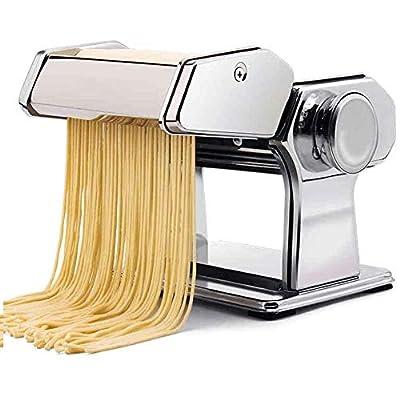 GAOFQ Pasta Machine,Sturdy Homemade Pasta Maker, All in One 9 Thickness Settings for Fresh Fettuccine Spaghetti Lasagne Dough Roller Press