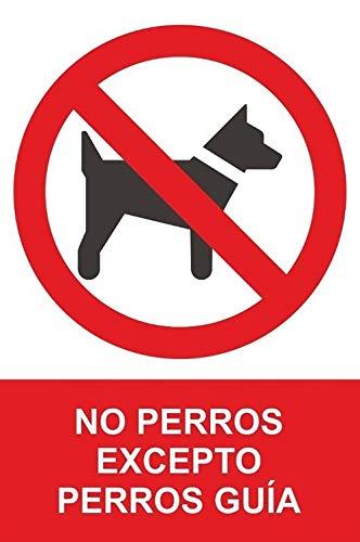 MovilCom® sticker voor honden behalve geleiding, 100 x 150 mm, verbodsbord RD46675