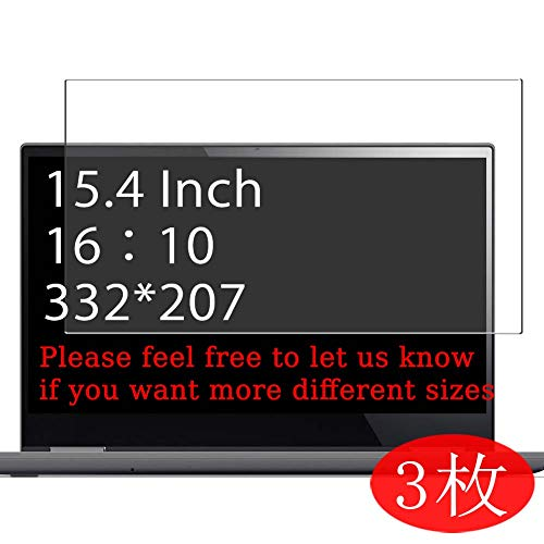 【3 Pack】 Synvy Screen Protector for 15.4' 16:10 (1280x800/1440x900/1680x1050/1920x1200/2560x1600) Suitable for Tablet Smartphone Laptop Monitor Film[Not Tempered Glass] New Version