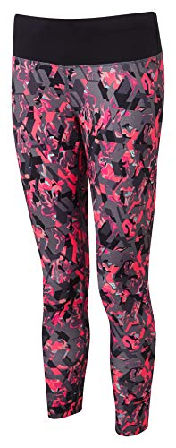 Ronhill Women's Momentum Crop Tights, Hot Pink Hex, Size 12