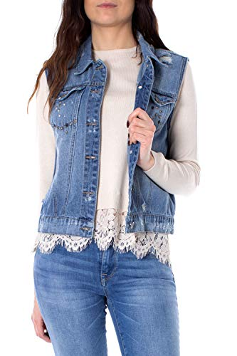 Only Smanicato Donna bibbi Reg s/l Denim Vest 15173906 36 Denim