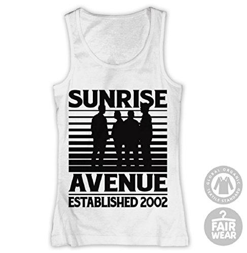 Sunrise Avenue - Silhouette Girl-Top weiß Gr. L