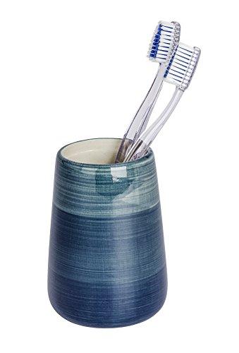 Wenko 22646100 Pottery Bicchiere portaspazzolini in Ceramica Petrolio 8 x 8 x 11 cm (Lu x la x a)