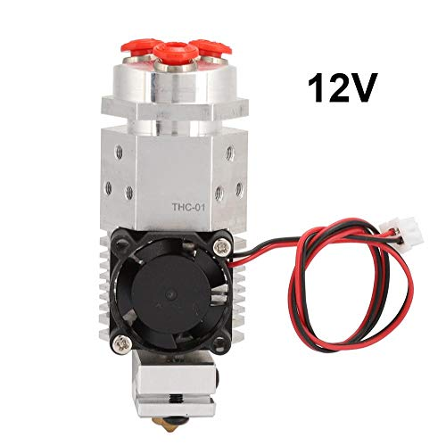 3 in 1 Multi-Color Aluminum Remote Extruder Three Colors Switching Hotend Kit 12V&24V for 3D Printer 1.75mm THC-01(12V)