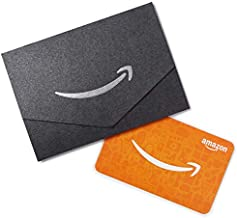 Amazon.com $10 Gift Card in a Black and Silver Mini Envelope