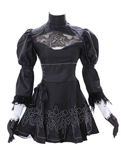Kawaii-Story MN-27-3 Nier Automata Kleid 5-teilig Set schwarz Gothic Faschings Kostüm Cosplay (XXL)