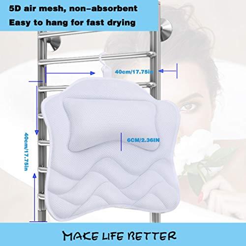 Bath Pillows for Tub, Bathtub Pillow for Head and Back