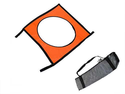 Trademark Innovations 23.5' Square Soccer Goal Square Target Training Equipment with Carry Bag
