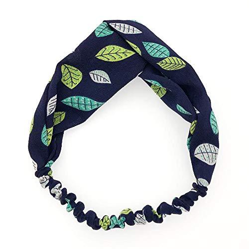 Fancylande Haarband, haarband voor vrouwen, bloem, vintage, bedrukt, elastische knopen met klittenband, wrap twisted, schattig haaraccessoire