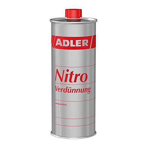 Nitro-Verdünnung 1l Aromatenfrei - Hochwertiger Nitroverdünner/Universalverdünnung/Pinselreiniger