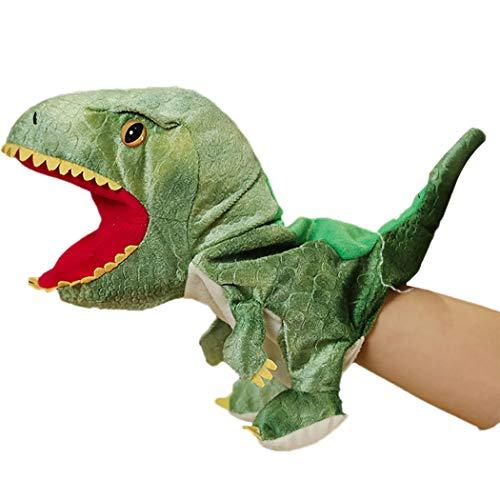 CACAZI Marioneta De Mano De Dinosaurio Para Niños, Muñeco De Dinosaurio, Juguete De Peluche Con Boca Abierta, Marioneta De Animales, Juguete Interactivo De Marioneta De Felpa