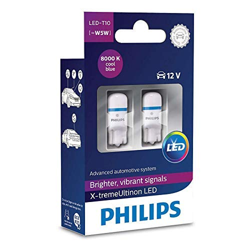 Philips 127998000KX2 X-treme Vision LED T10 8000K CeraLight Uniform 360°