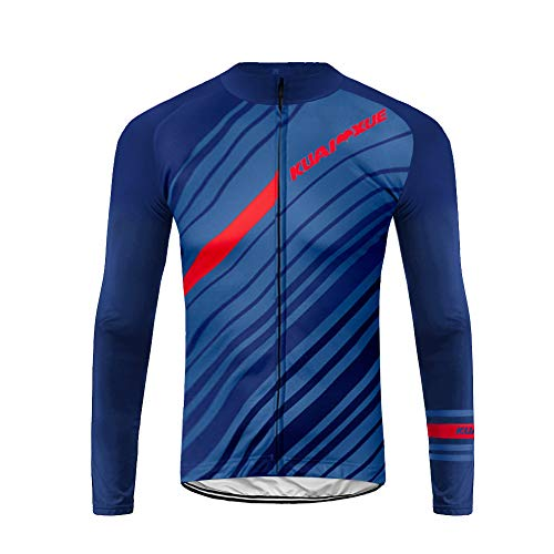 UGLY FROG Conjunto de Jersey de Ciclismo de Manga Larga de Ciclismo de montaña Transpirable de Ciclismo de montaña para Hombre CXML06