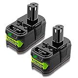 ADVNOVO 5000mAh Li-Ion 18V P108 Batería para Ryobi One+ 18V Batería RB18L40 RB18L13 RB18L50 RB18L25 para Ryobi 18V Bateria P108 P107 P122 P105 P102 P103 P104-2 Paquetes