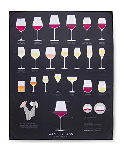 Wine Folly - Microfiber Polishing Cloth For Glass - Large Size (22